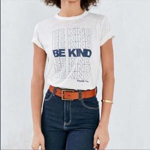 """FUTURE STATE (UO) """"BE KIND"""" BURNOUT TEE SIZE M"""